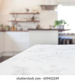 kitchen unfocused background
