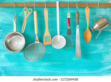 Kitchen utensils, cooking, kitchen concept.