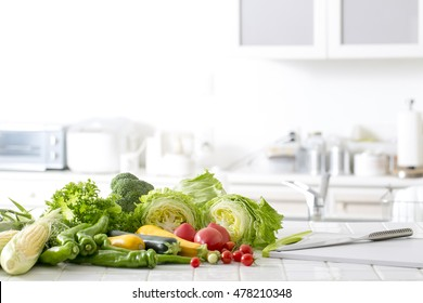 Kitchen of vegetables