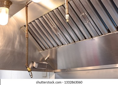 Kitchen ventilation and fire suppression system.