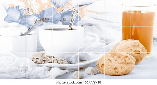 kitchen wall square digital wall tiles