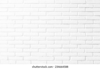 Kitchen wallpaper concept: Close up modern white brick tiles wall texture background
