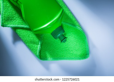 Kitchen washcloth bottle on white background.