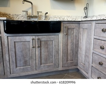 kitchen, wood cabinets with granite