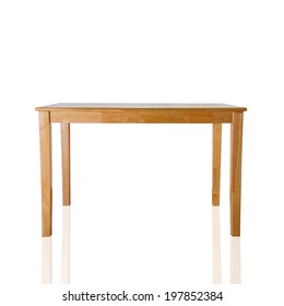 kitchen wooden table isolated on white background