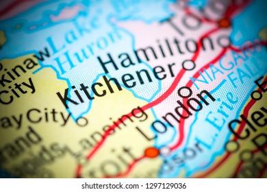 Map Of Canada Kitchener.Kitchener Ontario Canada Stock Photo Edit Now 508681981 Shutterstock