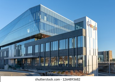 Kitchener, Ontario, Canada – Dec.19, 2018:  Google Canada Kitchener-Waterloo office buildings.