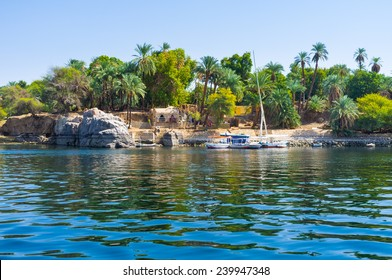 The Kitchener's island is also known as the Island of plants, it's popular tourist destination in Aswan, Egypt.