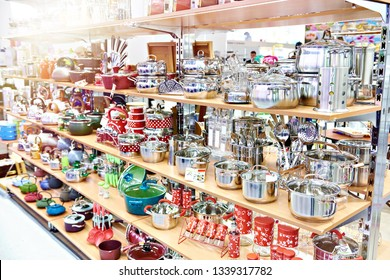 Kitchenware in the household goods store