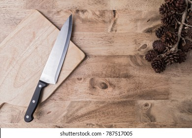 Kitchenware and ingredients decoration on wood table