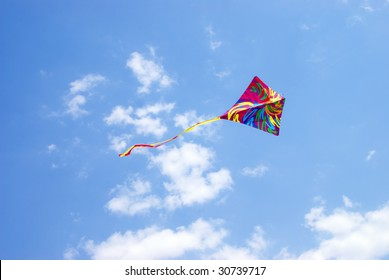 kite in the sky and cloud