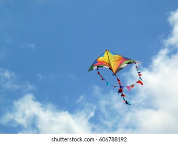 kite with sky and clouds