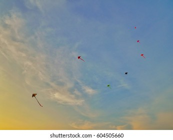 Kite Sunset sky