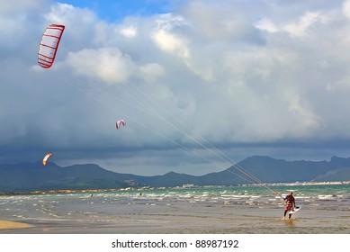 Kite Surf in Majorca (Balearic Islands - Spain)