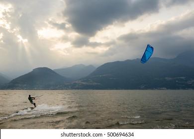 kite surf on lake