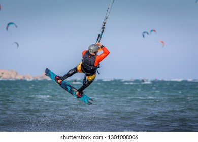kiteboarder kitesurfer athlete jumping, kitesurfing kiteboarding jump
