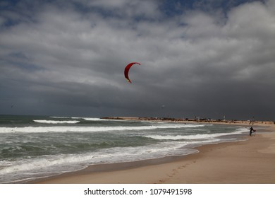 Kitesurfing, Kiteboarding spot and activities in Dakhla Morocco Atlantic Ocean.
