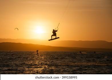 Kitesurfing, Paracas, Peru