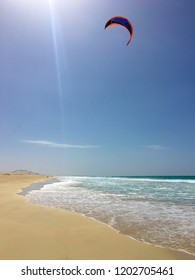 Kiting at Praia de Chaves, Boa Vista Cape Verde