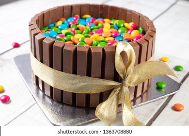 kitkat and m n m cake