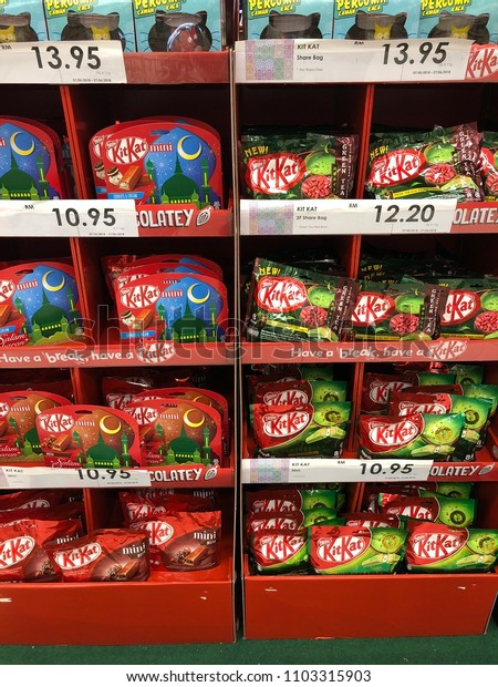 Kitkat snack displayed at the store. Selangor, Malaysia-May 2018