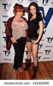 "Kitten Natividad and Erika Jordan at ""Politically Naughty with Mary Carey,"" TradioV Studios, Los Angeles, CA 07-01-13"