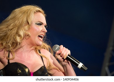 Kitty Brucknell performs on the main stage on day 1 of Gay Pride in Birmingham. 25/05/2013