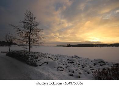 Kivenlahti Espoo winter