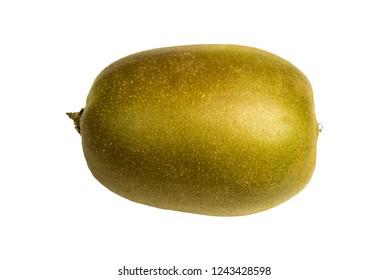 Kiwi Fruit in full size isolated on white Background.