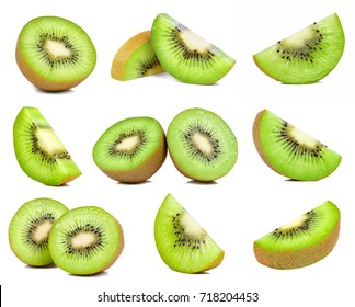 kiwi fruit isolated on the white background.