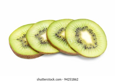 Kiwi fruit - isolated on white