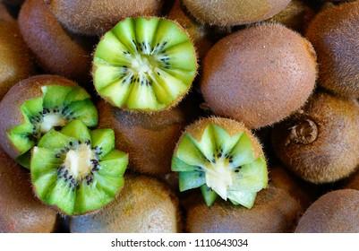 Kiwi fruit on sale at a food market