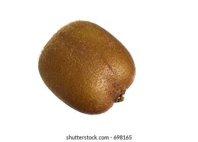 kiwi fruit over white