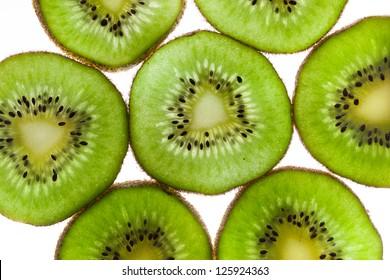Kiwi Fruit Slices in Pattern