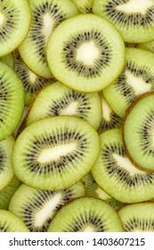 Kiwi fruits collection food background portrait format slices kiwis fresh fruit backgrounds