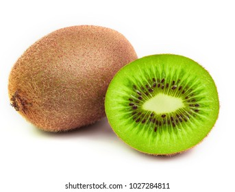 kiwi fruits isolated on white background.