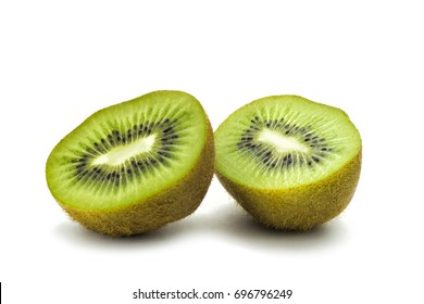 Kiwi isolated on white background. Slice of kiwi isolated
