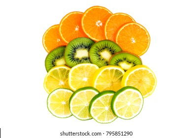 kiwi, lime, orange and lemon mix
