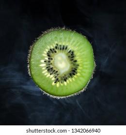 Kiwi on a dark background