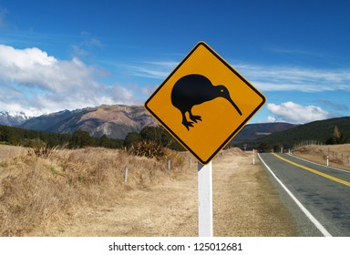 Kiwi roadsign, New Zealand