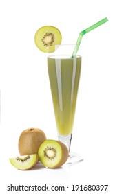 Kiwi Shake served in glass with slice of kiwi.