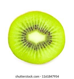kiwi slice isolated on white background.