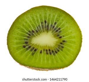 Kiwi slice isolated on white background