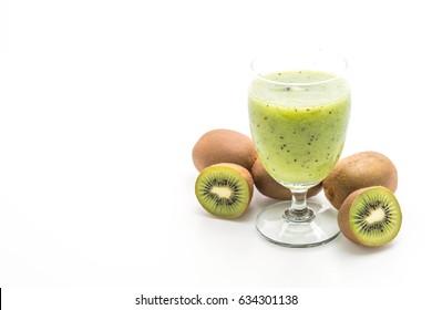 kiwi smoothie isolated on white background