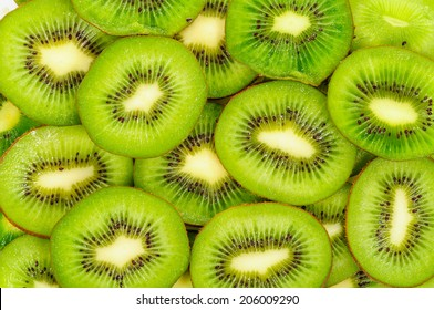 Kiwi,Slices of kiwi fruit