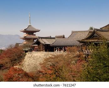 Kiyomizu Temple in Kyoto Japan. Kiyomizu-dera is UNESCO World Heritage listed.