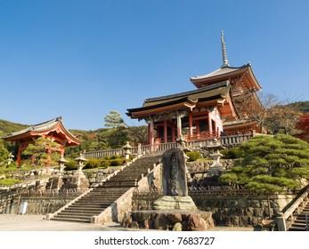 Kiyomizu Temple in Kyoto, Japan. Kiyomizu-dera is UNESCO World Heritage listed.