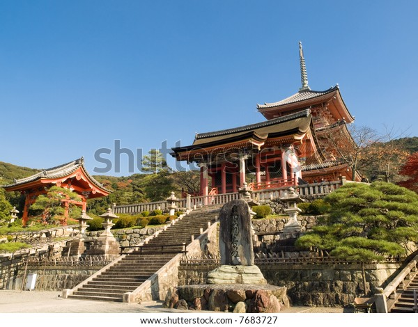 Kiyomizu Temple in Kyoto, Japan. Kiyomizu-dera is UNESCO World Heritage listed.
