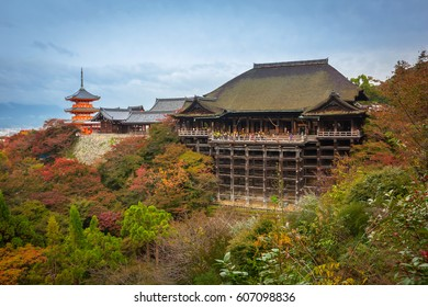 Kiyomizu-Dera Buddhist temple in Kyoto during autumn season, Japan