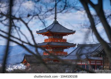 Kiyomizu-dera Temple on winter g time in Kyoto, Japan.Kiyomizu-dera, officially Otowa-san Kiyomizu-dera, is an independent Buddhist temple in eastern Kyoto.